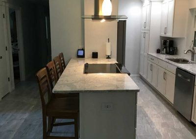 Kitchen with New Countertops and Cabinets